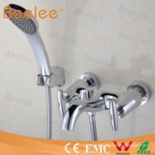 Grifo de ducha de doble manija de alta calidad con manguera y auricular