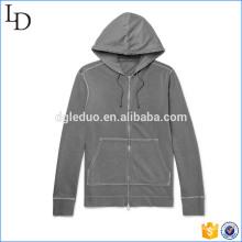 Loopback Coton-Jersey zip hoodies personnalisé en gros polaire sport hoodies