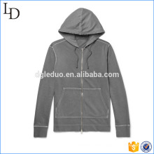 Loopback Cotton-Jersey zip hoodies custom wholesale fleece sport hoodies