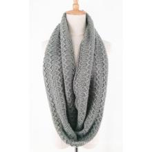 Calentador de cuello unisex Fancy grueso invierno de punto bufanda Loop bufanda (SK154)