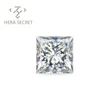 ForeverFlame  G H 6ct Princess  Cut VVS1 diamond CVD CZ Moissanite chic  jewelry