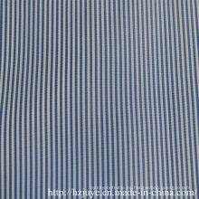 Tela teñida hilado (raya azul)