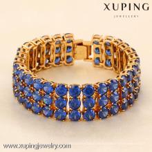 71746-Xuping Jewelry Fashion Woman Bracelet con oro de 18 quilates plateado