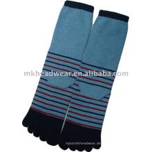 Männer streifen dicke Fünf-Zehen-Socke