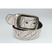 Hotsale !!!cheap leather custom printed leather belt