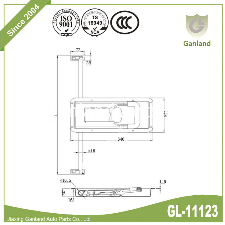 Stainless Steel Lock Specification GL-11123