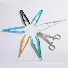 Pinças de bloqueio cirúrgico de plástico Pinça de plástico médico