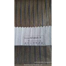 New Fashion Stripe Organza Sheer Curtain Fabric 201507
