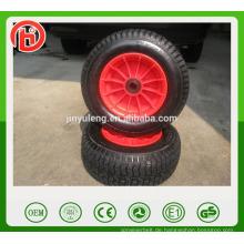 16 Zoll 6.50-8 Strand Wagen Rad pneumatische Gummi Luftrad Kunststofffelge