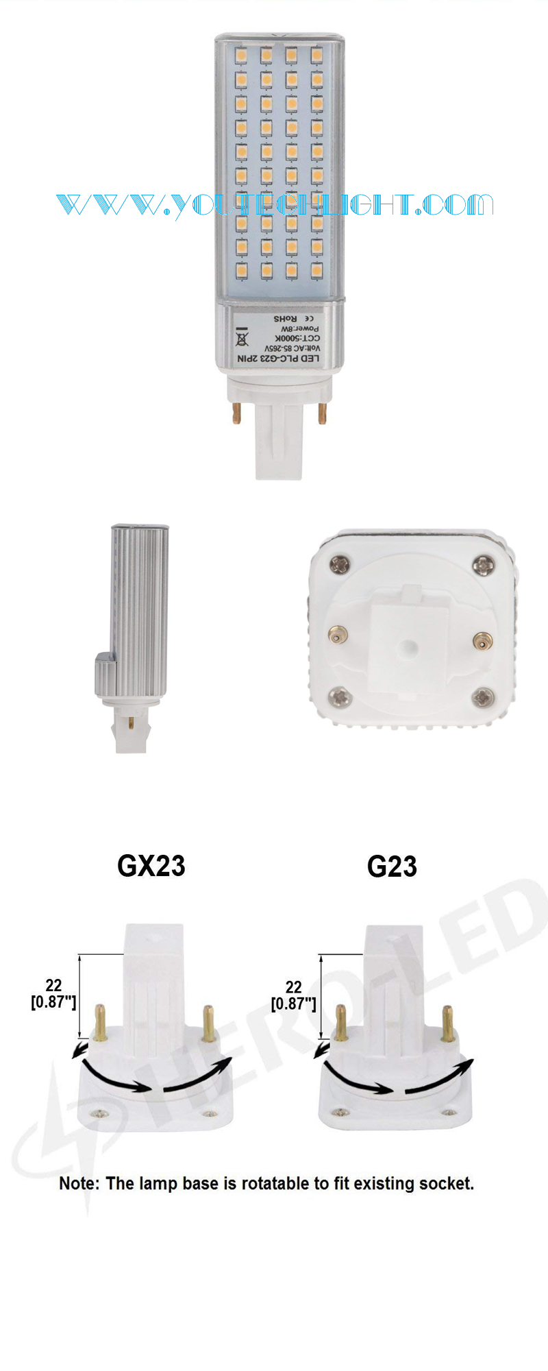 g23 led plug light
