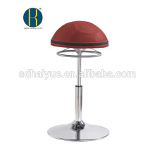 Hot selling Round Seat Red Mesh Bar Furniture For Sale With Round Base