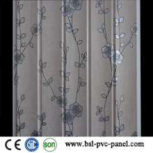 2015 laminado nuevo diseño de patrón de 25 cm de onda del panel de pared de PVC