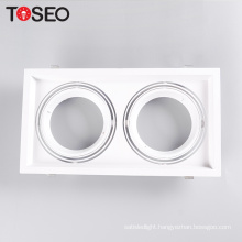 Double aluminum adjustable  lighting  AR111 grille led downlight