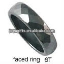 2012 nouveaux anneaux en forme de nouilles coupées en hématite