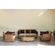 Environmentally friendly Design Water Hyacinth Wicker Sofa Set for Living Room