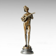 Bailarín Figura Estatua Jugador De Música Escultura De Bronce TPE-191