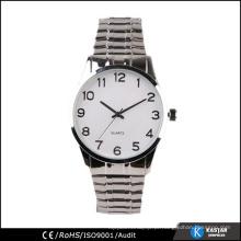 Relógio de aço inoxidável traseiro de aço inoxidável de quartzo japonês, fábrica de relógios oem