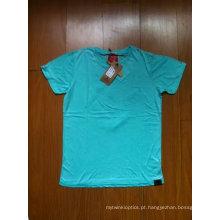 100% algodão Jersey 180GSM t-shirt com lavagem suja