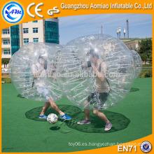 Bola de hámster de tamaño humano transparente gigante, bola de parachoques inflable más vendida del vientre del compinche del compinche