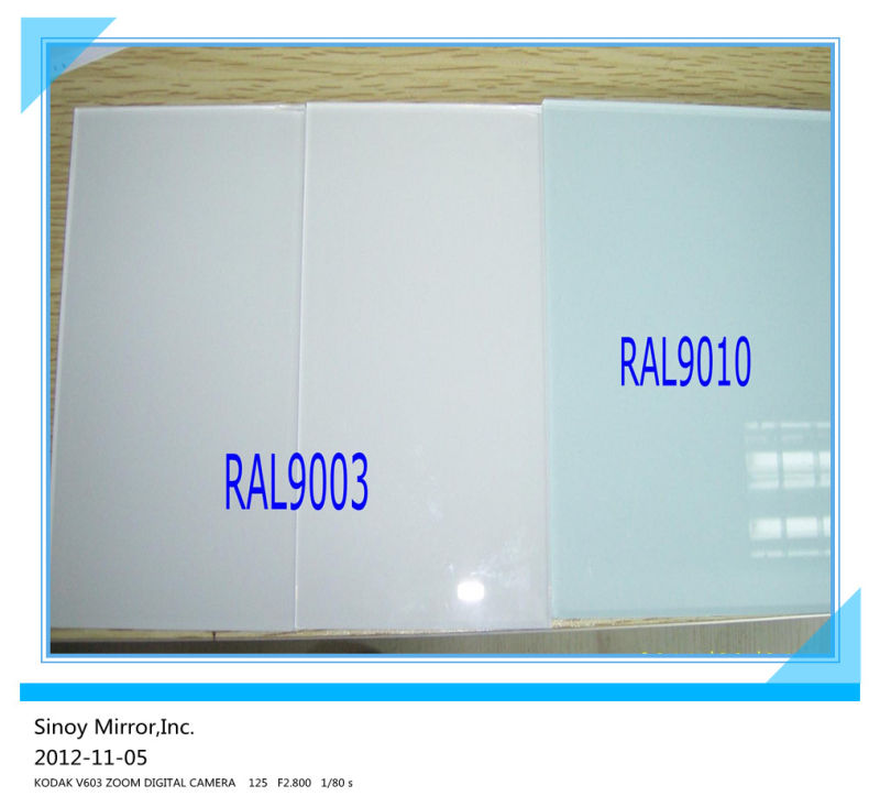 Ral 9016 Oder 9010 decorative white painted glass ral9010 ral9003 bossgoo com