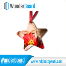 Sublimation Printing on Metal Ornament Aluminum Panel Customized Shape