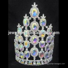Großhandel Rhinestone Tiaras Festzug Krone für Schönheit Königin
