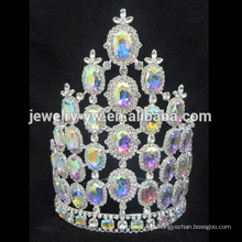Venda por atacado rhinestone tiaras coroa de representação para a rainha de beleza