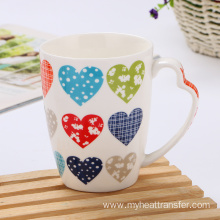 Custom fruit flower european style ceramic mug