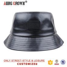 Sombrero de cuerno negro de piel de imitación
