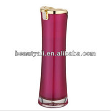 Round Waist Cosmetic Packaging Acrylic Lotion Bottle
