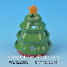 2016 cerâmica árvore de Natal vela titular