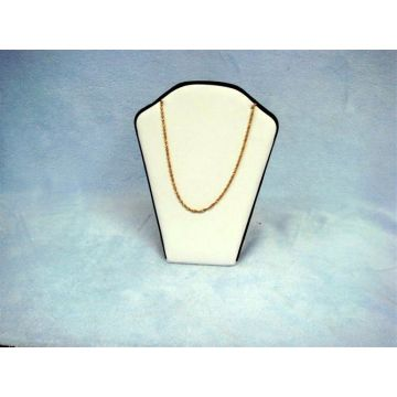 Engraved Beige PU Jewellery Necklace Display Stand Wholesale (NS-BL-K1P1)