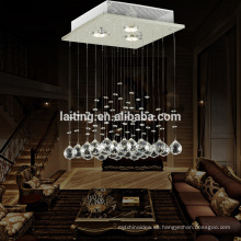 Iluminación moderna de la gota de lluvia de la lámpara Bola cristalina LÁMPARA DE TECHO DEL COLGANTE DEL ARREGLO