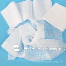 100% Baumwolle Absorbierende Gaze Tupfer / sterile Gaze Pads mit Röntgen