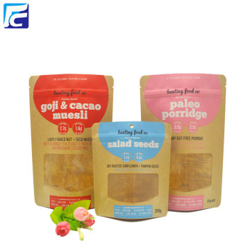 High Quality Kraft Paper Chia Seed Packaging Bag