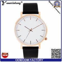 Yxl-493 Fashion 316L caja de acero inoxidable reloj de los hombres de cristal de zafiro de cuarzo de cuero genuino reloj de los hombres Ladies Ladies Vogue Relojes