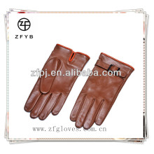 Hot sale Fashion ladies cheap leather winter gloves