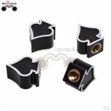 Silver peach heart idiographic tire valve cap