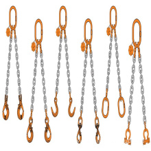 Double chain lifting spreader