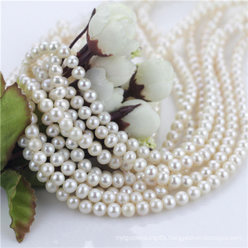 6mm Semi off Round Freshwater Cultured Pearl Strand