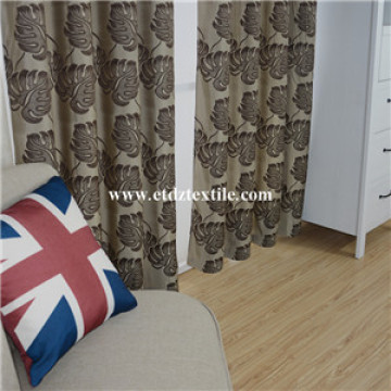 Popular Jacquard Circle Flower Design of Window Curtain