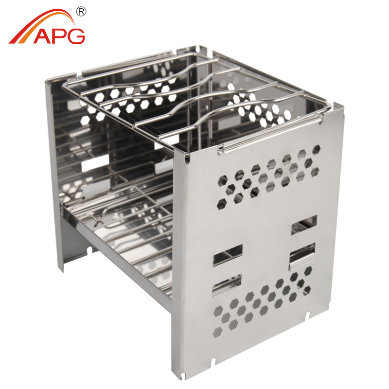 APG Portable Folding Camping Wood Burning Stove