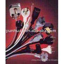 Power wire with plug