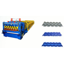 PLC Control System Glazed Tile Roof Roll Forming Machine