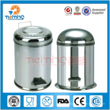 round stainless steel pedal trash can, kitchen trash cans