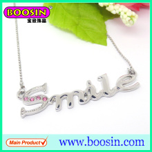 Wholesale Custom Crystal Personalized Letter Pendant Necklace
