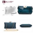 HEC Nouvelle Chine Produits Mode Vert Petit Sac D'épaule En Satin Pour Dame