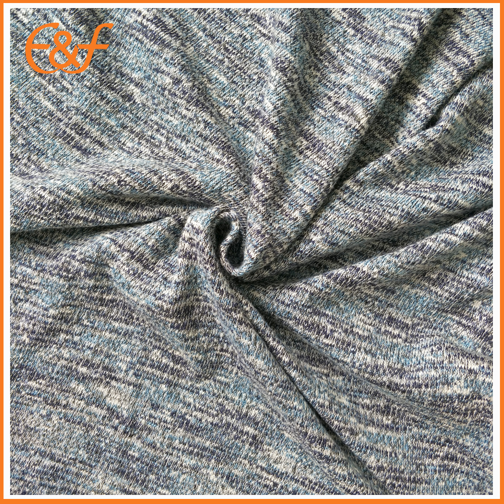 Mix yarn knitted sweater fabric look