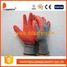 Grey Nylon Red Latex Glove (DNL211)