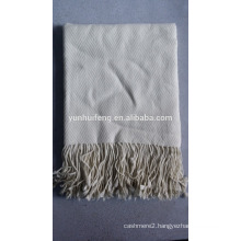 high quality very soft wool herringbone throw